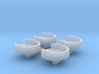1/700 USS Arizona BB-39 Aft 1.1 inch Gun Tubs 3d printed