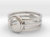 Yin Yang Ring 3d printed