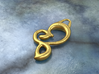 Twisted heart 3d printed brass material