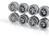 7.3mm Fuchs Hot Wheels Rims 3d printed