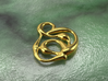 swirl pedant 3d printed gold material