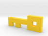 """8-Bit Key from Atari Adventure Video Game 3d printed """"Gold"""" key for the Gold Castle"""