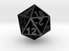 D20 - Plunged Sides 3d printed