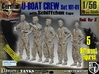 1/56 German U-Boot Crew Set101-01 3d printed
