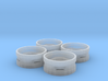 Dual Tractor Rims Set of 4 3d printed