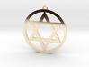 Hexagram Star Pendant 3d printed