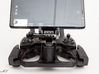 DJI Controller Phone / Tablet Mount Plate Insert 3d printed Inserted into the DJI Mavic Air controller with a Samsung Note 8 attached using a standard cell phone holder with GoPro mount.
