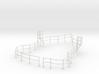 "1/48 USN Fletcher Roof Railing ""Round Bridge"" v1 3d printed"