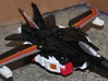 Transformers Combiner Wars Powerglide-Style Booste 3d printed Booster-Guns mounted on Air Raid figure