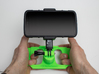 DJI Controller GoPro Phone / Tablet Mount Plate 3d printed Example printed in green PLA