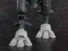 Mini Knight - Wolf Feet & Shin Guards 3d printed