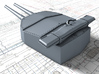 "1/720 HMS Hood 15"" Mark II Turrets 1920 B. Bags 3d printed 3d render showing X and  Y Turret detail"
