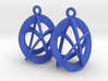 Triquetra - earrings in plastic 3d printed