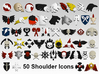 Xenos Hunter Shoulder Icons x50 3d printed Product is sold unpainted.