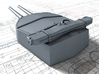 "1/700 HMS Hood 15"" (38.1 cm) Mark II Turrets 1941 3d printed 3d render showing A Turret detail"