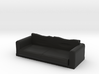 Black Fabric Sofa / Couch 3d printed