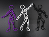 Ragdoll Pendant (11 parts) 3d printed Purple and Black Premium Strong & Flexible Polished, surrounding their 5-part sibling.