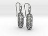 FitzLogo Filigree Earrings 3d printed