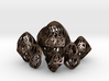 Twisty Spindle Dice Set with Decader 3d printed