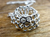 Spumellaria spineless Radiolarian - Science Jewelr 3d printed Spumellaria spineless in polished silver