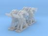 4 Supports Simples pour levier à cran 3d printed