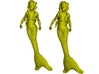 1/87 scale mermaid swimming figures x 2 3d printed
