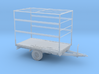 O Scale Closed Trailer 3d printed This is a render not a picture