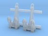 1/350 RN Byers Stockless Anchor 100cwt x2 3d printed 1/350 RN Byers Stockless Anchor 100cwt x2