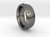 Rivets Band Ring US Ring Size 11 ½ (UK Size X) 3d printed Polished Nickel Steel makes this an affordable choice with a fashionable look.