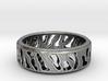 Tiger Stripe Ring 3d printed