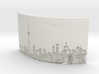 The City Curved lithophane 3d printed