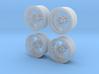 """Enkei RPF1 16"""" 1/24 pack Fujimi spindle  3d printed"""