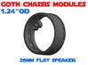 GCM124 - 28mm Flat Speaker Chassis 3d printed