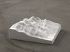 4'' Grand Tetons, Wyoming, USA, Ceramic 3d printed Radiance rendering of model, viewed from the south.