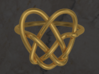 Heart Knot Ring 3d printed