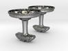 Cufflinks R8 wheel design with brake caliper 3d printed