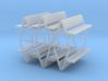 Bench type F (duble) - H0 ( 1:87 scale ) 6 Pcs set 3d printed