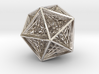 Icosahedron collapsing axis 3d printed