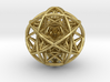 Scaled arrayed star hedron inside sphere 3d printed