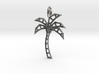 Wireframe palm tree pendant 3d printed