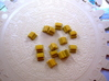 Gold Replacements for Tzolk'in, Set of 30 3d printed Gold bars in full color sandstone