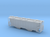 100 Ton Two Bay Covered Hopper - Zscale 3d printed