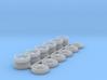 1/64 M2 Alcoa Dually Rims (3 Set) (For M2 Truck Ti 3d printed