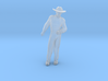 Man Standing Arm Bent: Wearing a Large Hat 3d printed