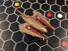 3788 Scale Drex Battledestroyer MGL 3d printed Ship is painted by a fan. Stand not included.