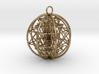 "3D Sri Yantra 8 Sided Optimal 2.2"" Pendant 3d printed"