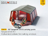 SET Bungalow tent with camping guests (TT 1:120) 3d printed