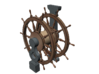 1/64 Ship's Wheel (Helm) for Ships-of-the-Line 3d printed Painting suggestion.