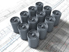 1/72 Royal Navy MKVII Depth Charges x12 3d printed 1/72 Royal Navy MKVII Depth Charge x12