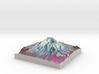 "Mount St. Helens (Pre-1980) False Color: 8""x8"" 3d printed"